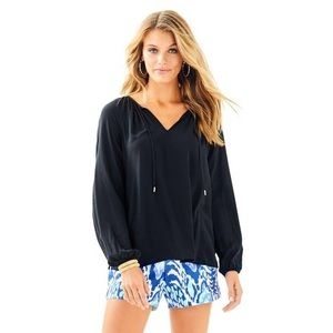 Black Lilly Pulitzer Willa Top